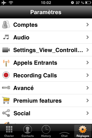ZoomiTel Zoiper pour iPod iPhone iPad Android Configuration - Base